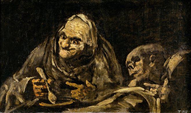 Deux vieillards mangeant de la soupe - Goya