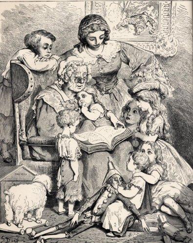 Gustave doré - La lecture des contes en famille